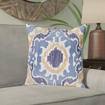 Ayaan 100% Cotton Pillow Cover Size: 22 H x 22 W, Color: Denim/Navy/Camel