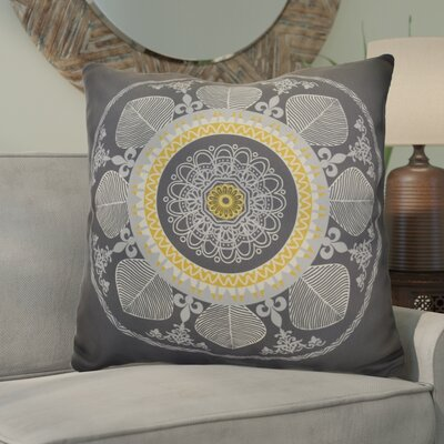 Soluri Stained Glass Geometric Euro Pillow Color: Gray