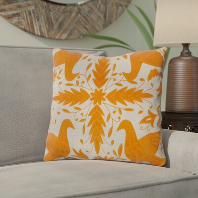 Clayton Throw Pillow Size: 18 H x 18 W, Color: Cobble Stone / Golden Ochre, Filler: Down