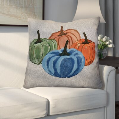 Miller Paper Mache Pumpkins Geometric Euro Pillow Color: Gray