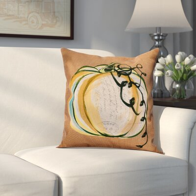 Miller Pumpkin Fest Outdoor Throw Pillow Size: 18 H x 18 W x 2 D, Color: Rust