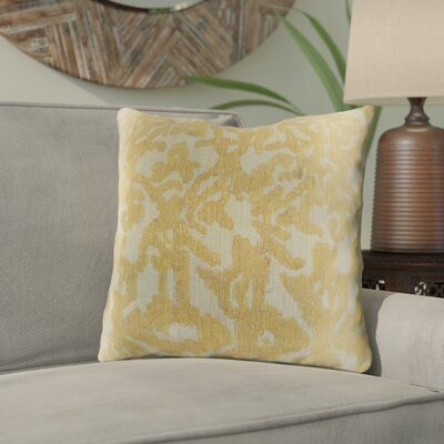 Tatum Throw Pillow Size: 18 H x 18 W x 3.5 D, Color: Wheat