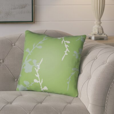 Teena Throw Pillow Size: 20 H x 20 W x 4 D, Color: Green/Grey