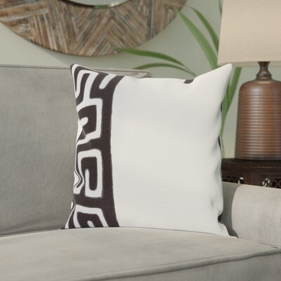 Bomaderry 100% Linen Throw Pillow Cover Size: 20 H x 20 W x 1 D, Color: BlackNeutral