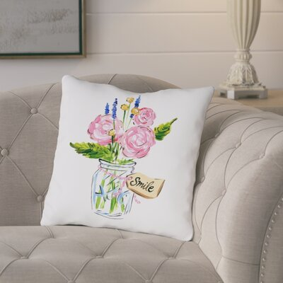 Ramos Smile Bouquet Throw Pillow Size: 18 H x 18 W x 3 D
