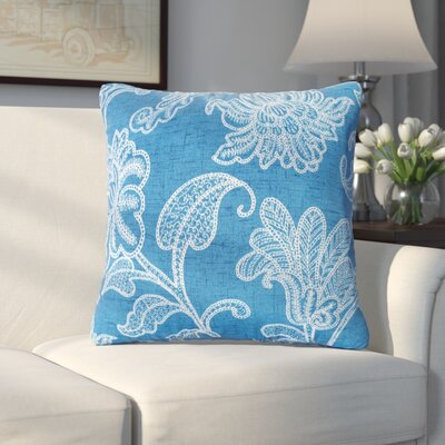 Baskerville Outdoor Throw Pillow Size: 16 H x 16 W x 6 D, Color: Baltic