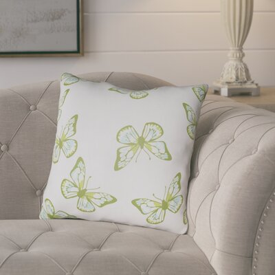 Sanchez Indoor/Outdoor Throw Pillow Size: 20 H x 20 W x 3.5 D, Color: Beige/Green