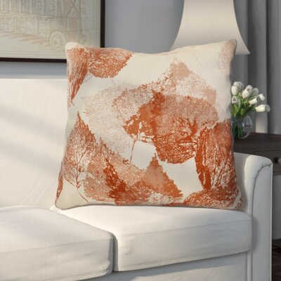 Miller Memories Floral Euro Pillow Color: Rust