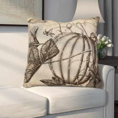 Miller Antique Pumpkin Floral Euro Pillow