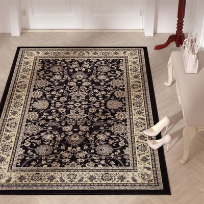 Concord Black Area Rug Rug Size: 5 x 8