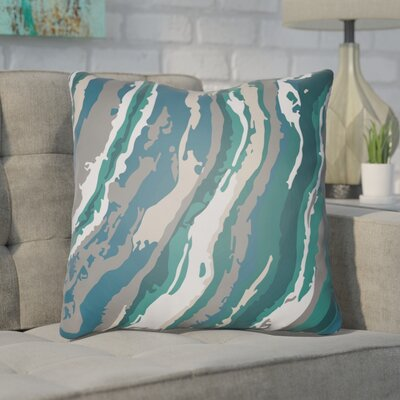 Konnor Throw Pillow Size: 18 H x 18 W x 4 D, Color: Teal