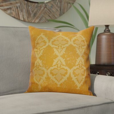 Soluri Geometric Outdoor Throw Pillow Size: 18 H x 18 W x 2 D, Color: Gold
