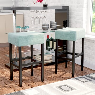 Gabriel 30 Bar Stool Upholstery Color: Light Blue