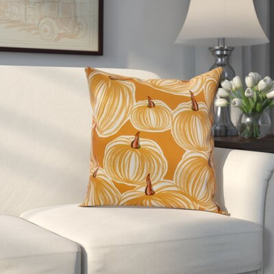 Miller Pumpkins-A-Plenty Geometric Throw Pillow Size: 18 H x 18 W x 2 D, Color: Gold