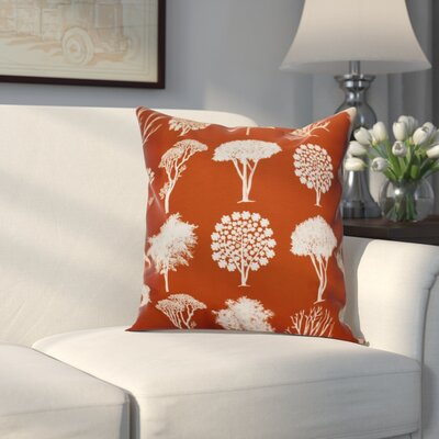 Miller Field of Trees Floral Throw Pillow Size: 16 H x 16 W x 2 D, Color: Rust