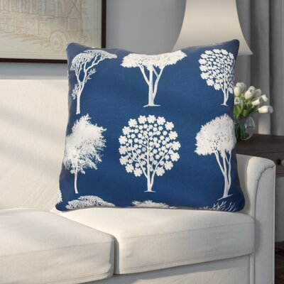 Miller Field of Trees Floral Euro Pillow Color: Blue