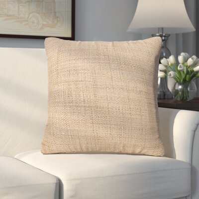 Abraham Texture Coco Soft Burlap Throw Pillow Size: 16 H x 16 W, Color: Stone