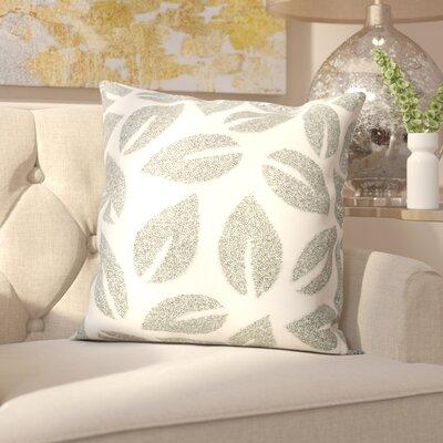 Anatole Cotton Throw Pillow Color: Silver
