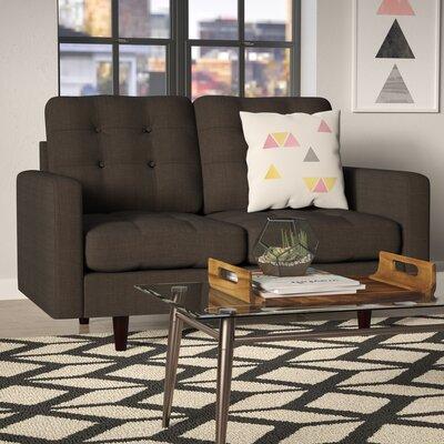 Efimov Loveseat Upholstery: Charcoal