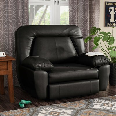 Bolles Manual Wall Hugger Recliner Upholstery: Dark Chocolate