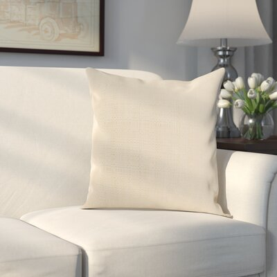 Verrett Solid Indoor/Outdoor Throw Pillow Color: Beige, Size: 21 H x 21 W