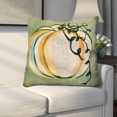 Miller Pumpkin Fest Geometric Euro Pillow Color: Green