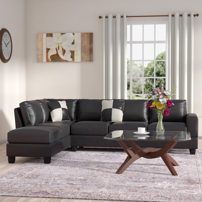 Childress Reversible Sectional Upholstery: Cappucino