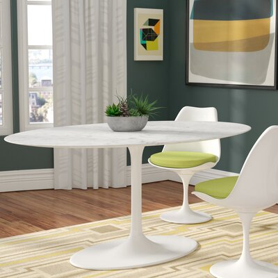 Larkson Pedestal Dining Table Top Finish: Marble