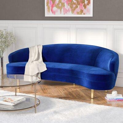 Hewitt Velvet Sofa Upholstery: Navy