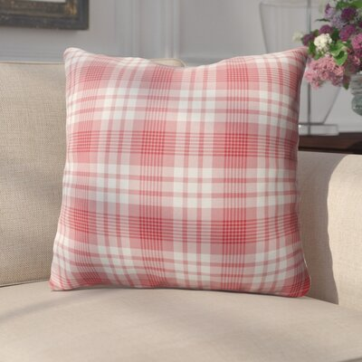 Pascual Plaid Indoor/Outdoor Throw Pillow Size: 18 H x 18 W x 4 D