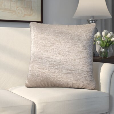 Abshire Throw Pillow Size: 20 H x 20 W x 8 D, Color: Glam Pewter