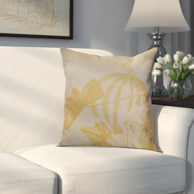 Miller Hand Towel Stagecoach Floral Throw Pillow Size: 16 H x 16 W x 2 D, Color: Gold