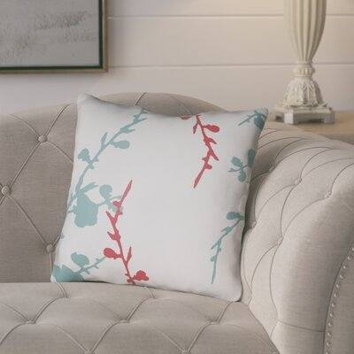 Teena Throw Pillow Size: 18 H x 18 W x 4 D, Color: White/Blue/Red