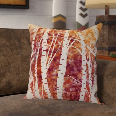 Brookfield Birch Trees Floral Outdoor Throw Pillow Size: 20 H x 20 W x 2 D, Color: White
