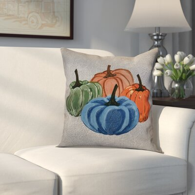 Miller Paper Mache Pumpkins Geometric Throw Pillow Size: 18