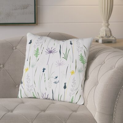 Brener Wildflower Throw Pillow Size: 18 H x 18 W x 3 D