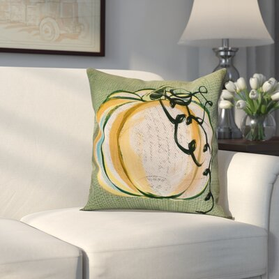 Miller Pumpkin Fest Throw Pillow Size: 18 H x 18 W x 2 D, Color: Green