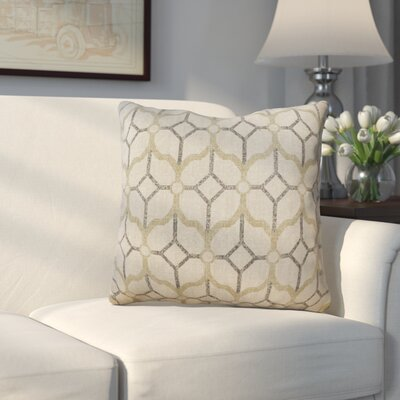 Spencerville 100% Cotton Throw Pillow Color: Pewter