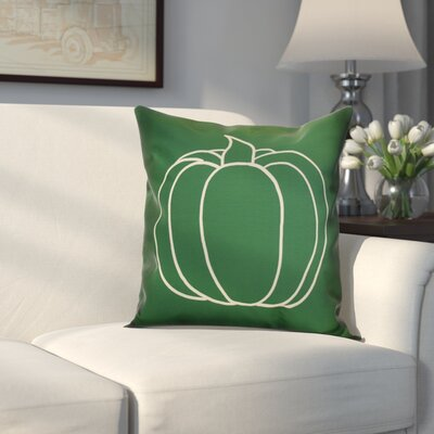 Miller Pumpkin Pie Geometric Outdoor Throw Pillow Size: 16 H x 16 W x 2 D, Color: Green