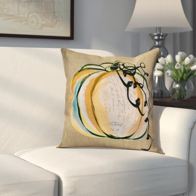 Miller Pumpkin Fest Outdoor Throw Pillow Size: 16 H x 16 W x 2 D, Color: Taupe