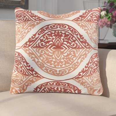 Parish Cotton Throw Pillow Size: 22 H x 22 W x 4 x D, Color: Coral/Camel