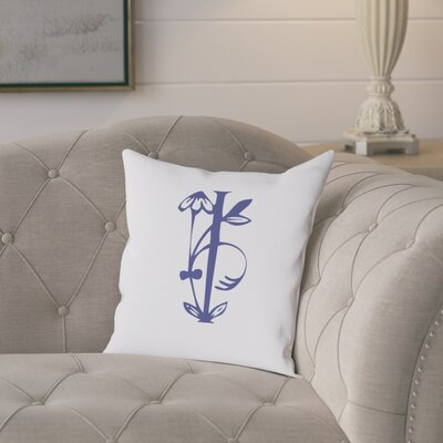 Attina Personalized Floral Initial Throw Pillow Letter: I