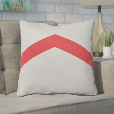 Down Throw Pillow Size: 16 H x 16 W, Color: Coral
