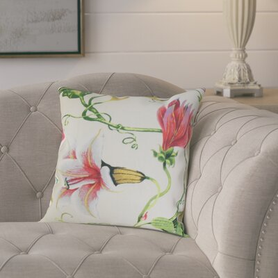 Keneth Floral Throw Pillow Color: Multi, Size: 18 x 18