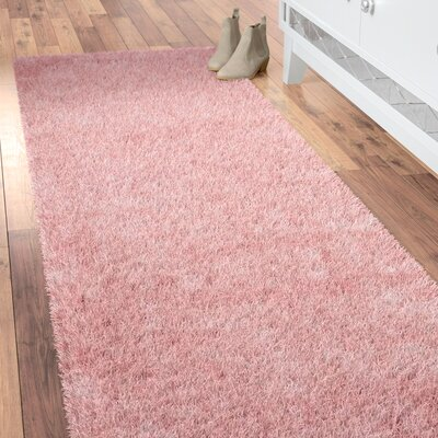 Hermina Light Pink Area Rug Rug Size: Runner 23 x 8