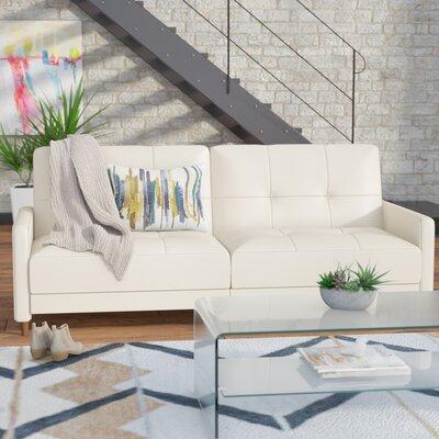 Mercury Row MCRW4682 Benitez Faux Leather Convertible Sofa Upholstery