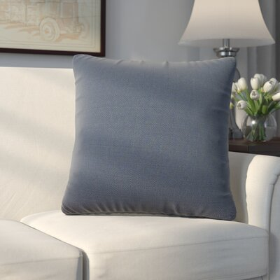 Abshire Throw Pillow Size: 16 H x 16 W x 8 D, Color: Sterling Indigo