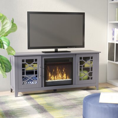 Jennings 54 TV Stand with Optional Fireplace Color: Cool Gray, Fireplace Included: Yes