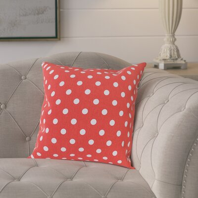 Rebeterano Cotton Pillow Cover Color: Coral