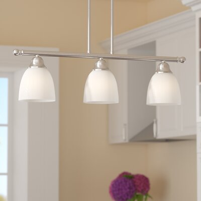 Bill 3-Light Kitchen Island Pendant Finish: Brushed Nickel